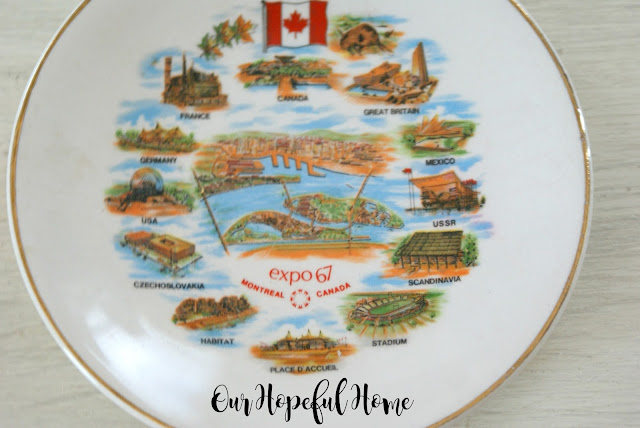Expo 67 Montreal Canada World's Fair Collector Plate