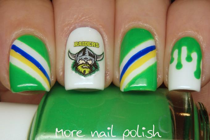Raiders Nail Art Designs