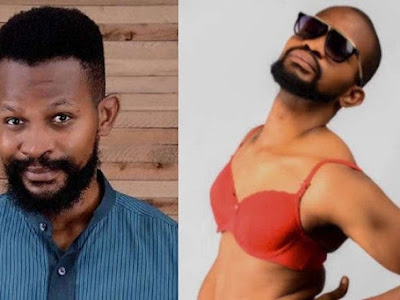 Uche Maduagwu shares raunchy photos in bra after coming out as gay