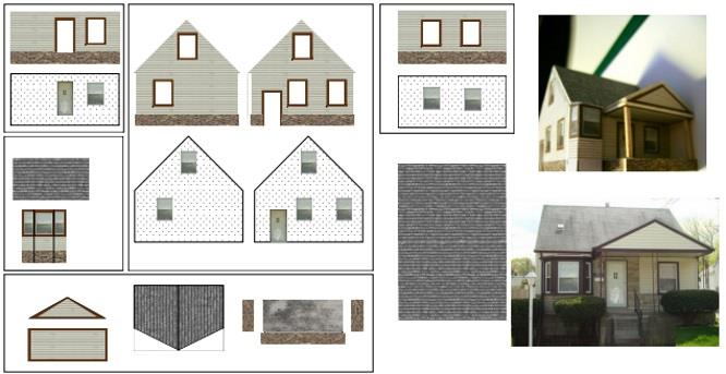 ... This Is, According To The Author, A North American Style House And  Based On The Template, I Believe This Model Is On An Approximate Scale Of  1/100, ...