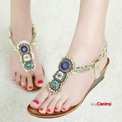 Flat Summer Shoes | Braided Sandals | Footwear for Girls