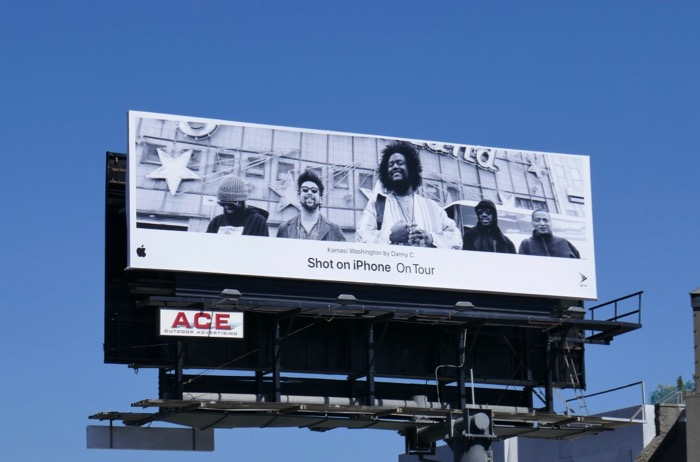 Shot on iPhone On Tour Kamasi Washington billboard