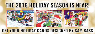 Holiday Card Sets Designed By Sam Bass #NASCAR