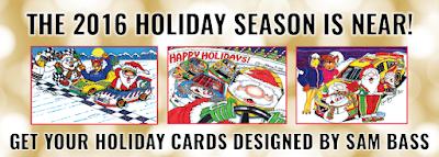 Holiday Card Sets Designed By Sam Bass #NASCAR