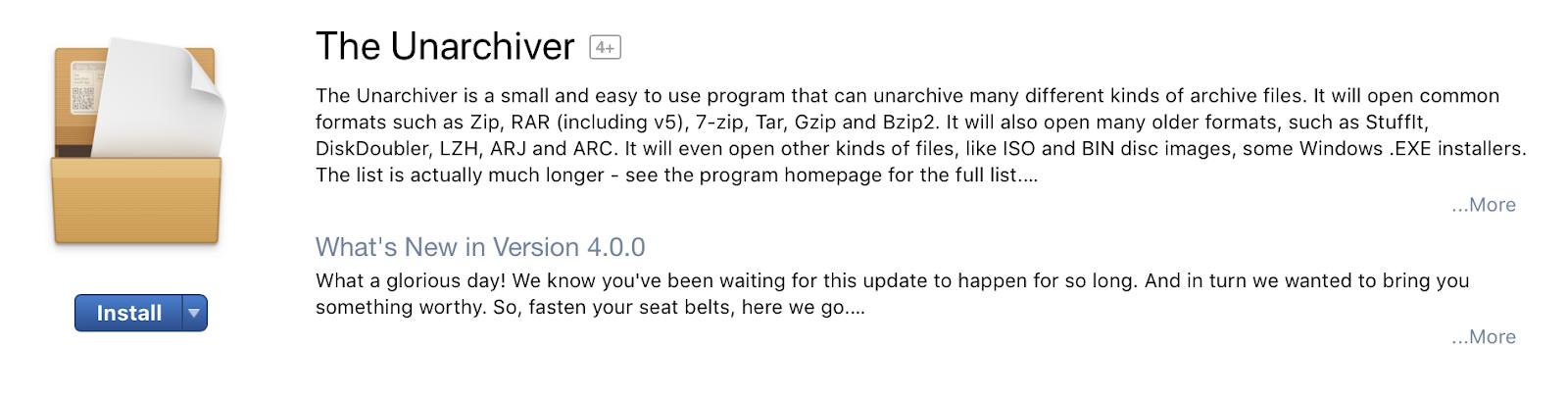 Cara Membuka File .rar di Mac menggunakan The Unarchiver