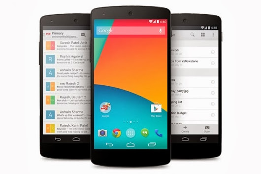 Google Nexus 5 with Android 4.4 KitKat launched