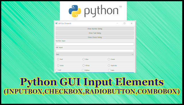 Python GUI Input Elements Tutorial Part 15.9