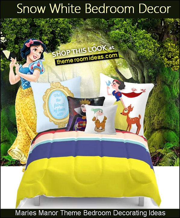snow white bedroom decor snow white bedding snow white pillows magic forest mural dwarf pillow evil queen pillow