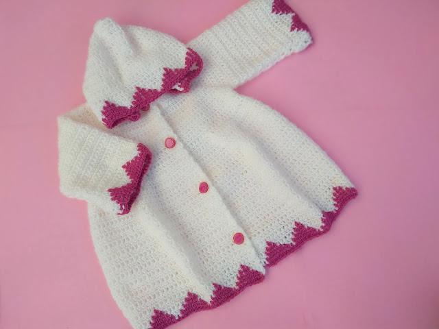 2 - Crochet Imagen Abrigo con capucha crochet parte 2 y ganchillo Majovel Crochet bareta puntada punto sencillo facil DIY canesu manga