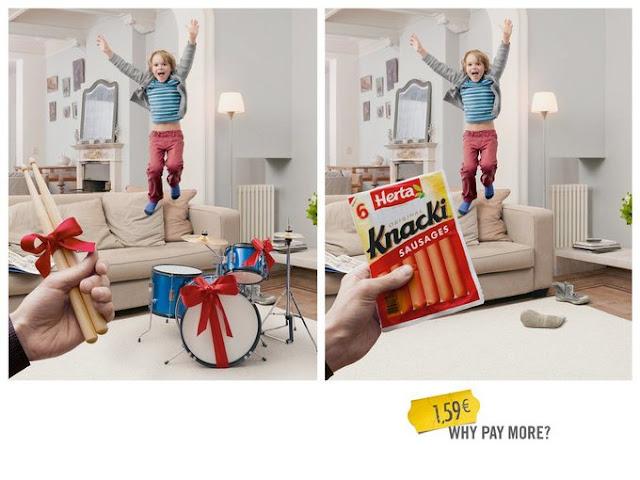 Dù giá rẻ hơn rất nhiều so với bộ trống, xúc xích Knacki vẫn khiến trẻ con nhà bạn phải nhảy cẫng lên sung sướng