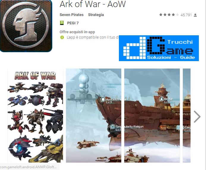 Trucchi Ark of War - AoW Mod Apk Android v1.2.5