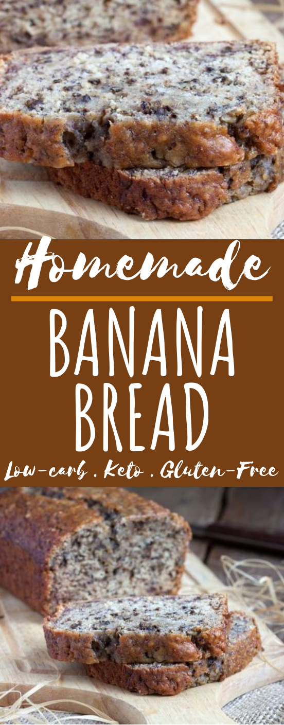 The Best Low Carb Banana Bread #breakfast #keto