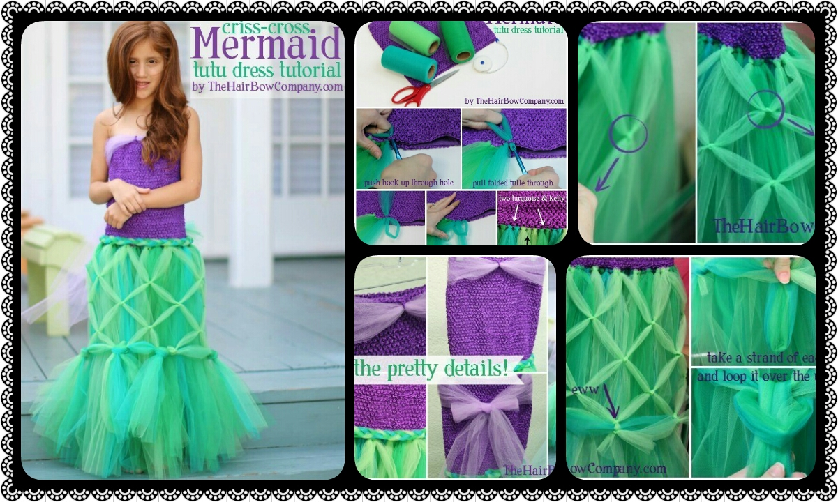 Mermaid tutu dress crazzy craft - What you can do with acorns a bit of health and embellishment ...