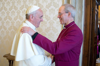 The Pope and the Archbishop of Canterbury say they will work together to help the poor.