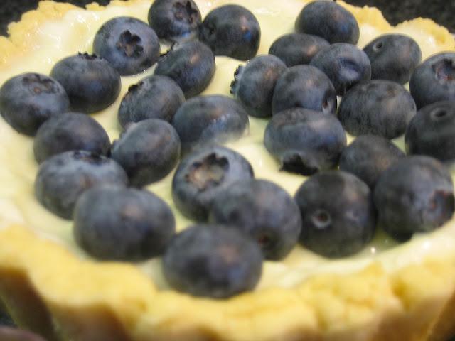 Heidelbeer-Tartelett mit Pudding - Rezept