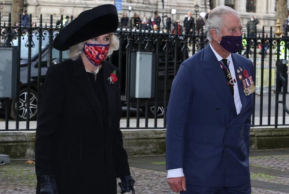 Prince Charles and the Duchess of Cornwall attended a service at Westminster Abbey to mark the centenary of the burial of the unknown warrior