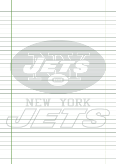 Folha Papel Pautado New York Jets PDF para imprimir na folha A4