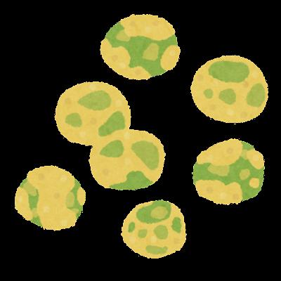 豆菓子のイラスト(緑)