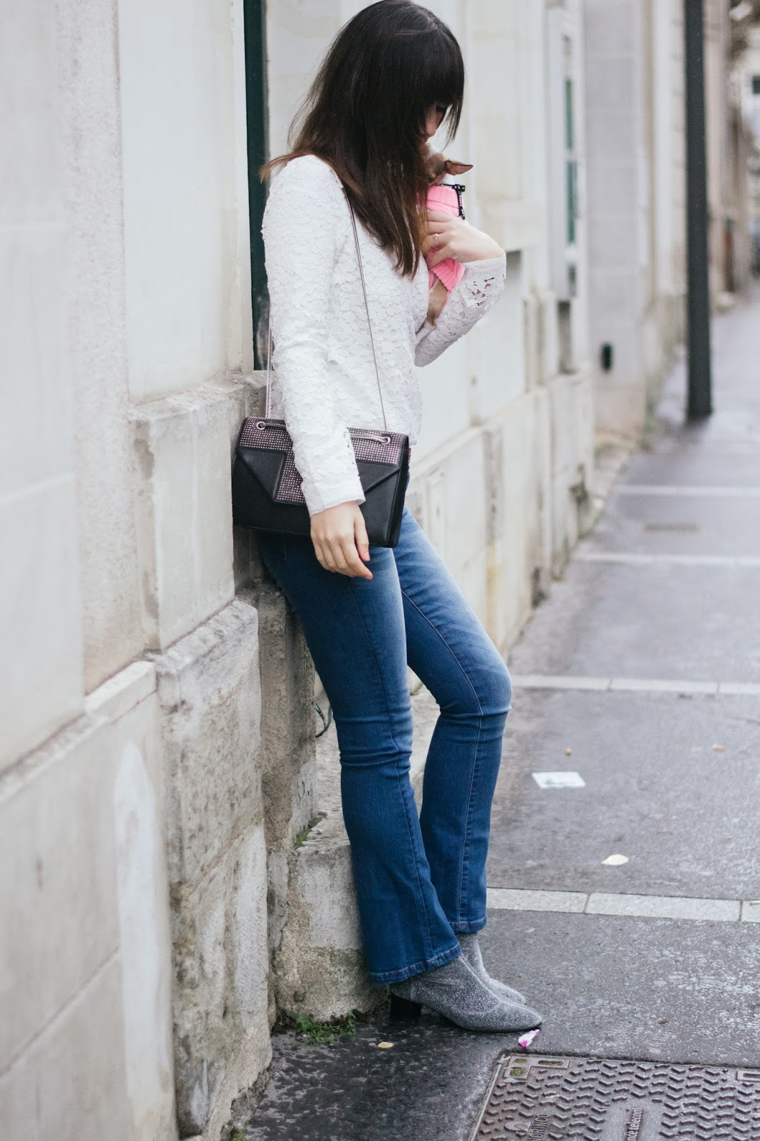 Parisian fashion blogger, style, look, mode, paris, promod, jeans, flared jeans