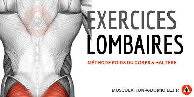 musculation à domicile exercice musculation lombaire transverse poids du corps gainage