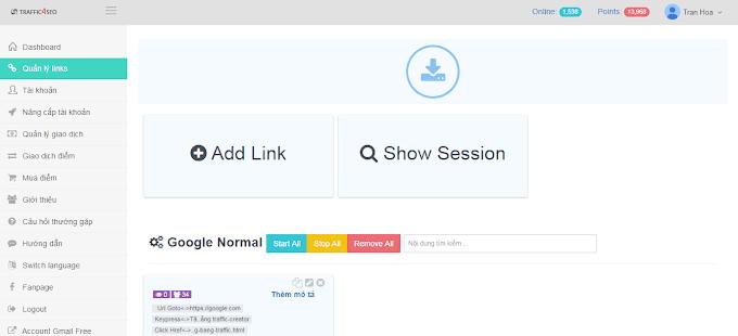 Hướng dẫn tăng traffic cho blogspot bằng traffic4seo