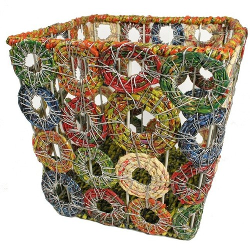 How To Recycle: Recycled Waste Paper Basket