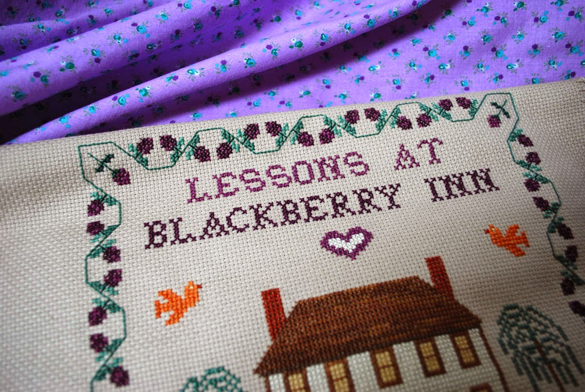 cross stitch Lessons at Blackberry Inn