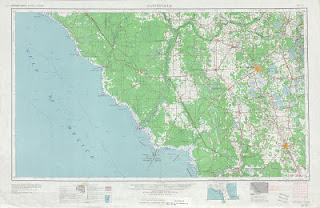 Download Topographic map of Gainesville-1954 USA 250000 (250k)