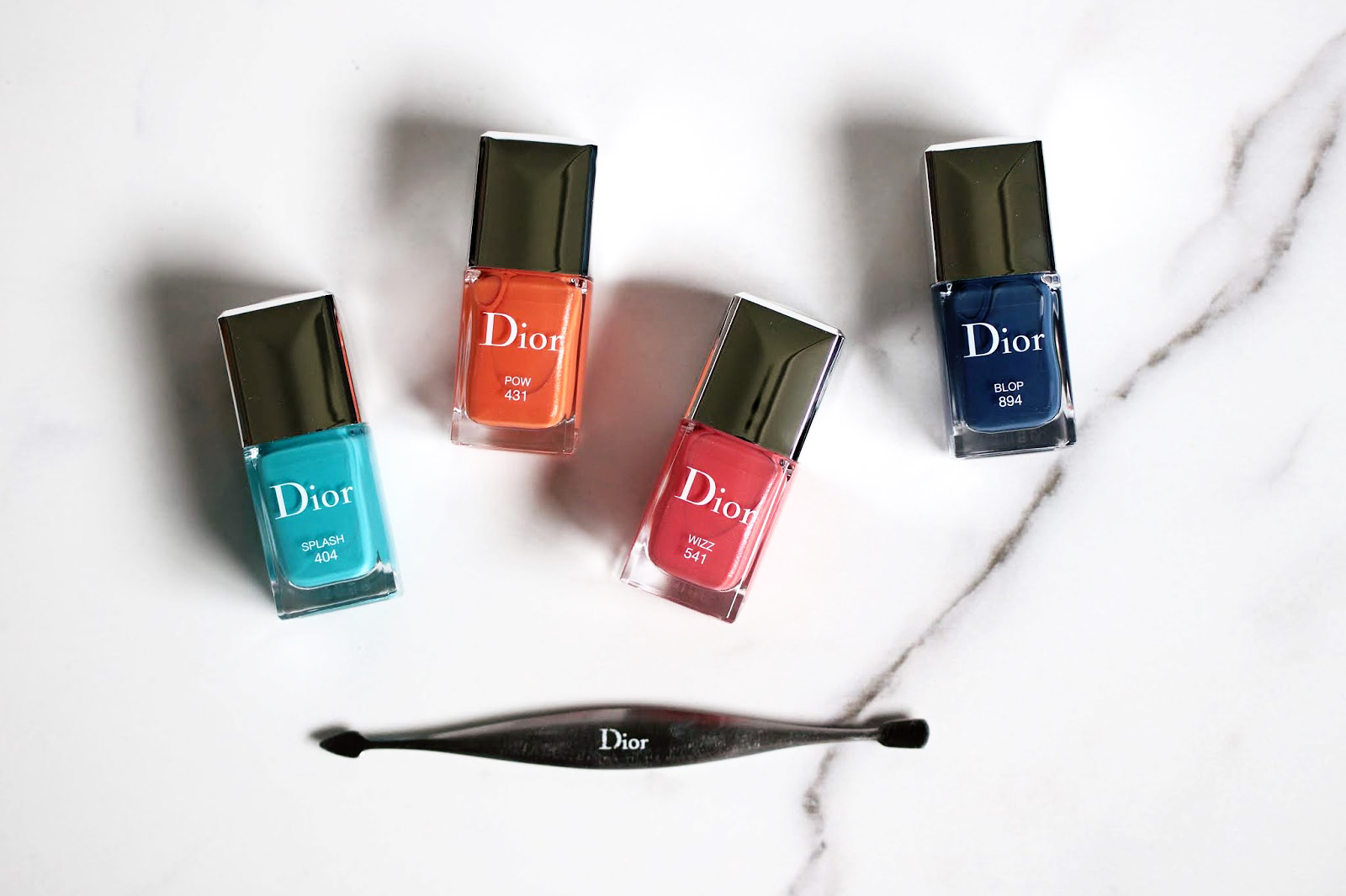 dior vernis à ongles été 2018 404 splash 541 wizz 431 pow 894 blop avis test swatch swatches