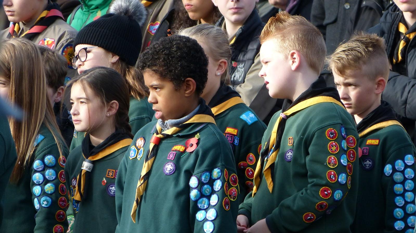 Cub scouts Remembrance parade 2019 in Castle Bromwich