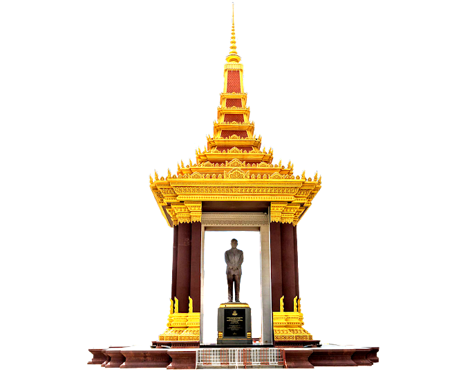 Statue of King Father Norodom Sihanouk free png file