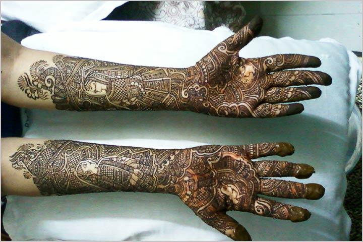 Rajasthani Bridal Mehndi Designs Pictures