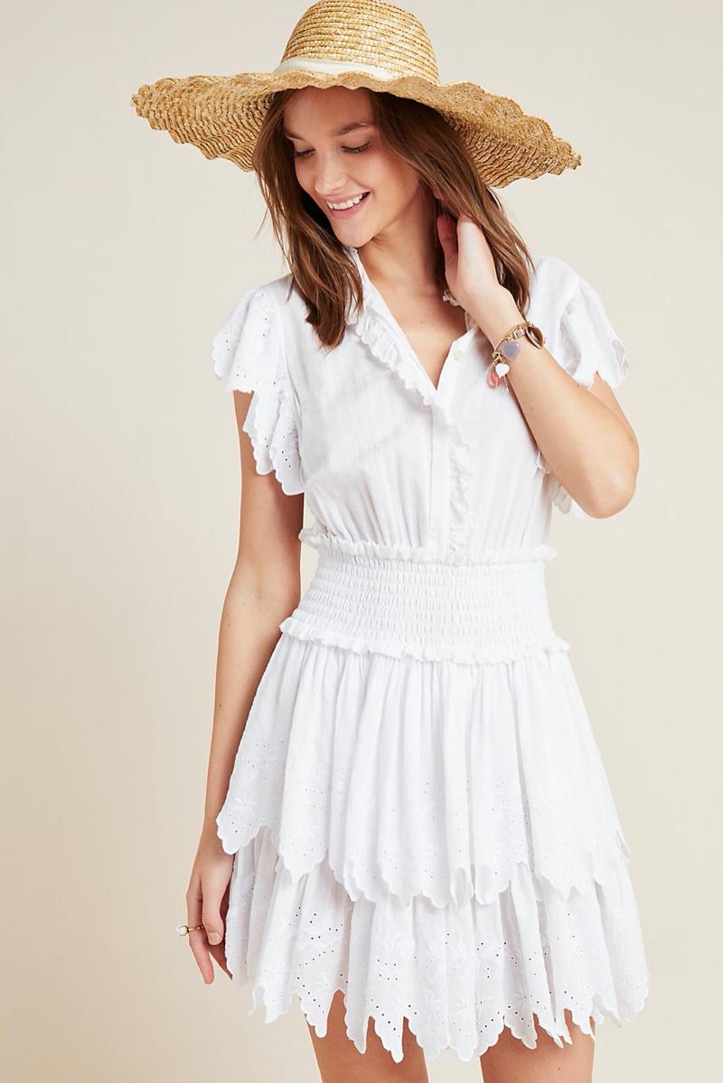 La Vie by Rebecca Taylor Michelle Eyelet Mini Dress