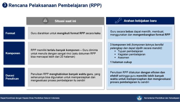 Kebijakan Merdeka Belajar Kemendikbud Tentang RPP
