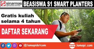 Beasiswa Kuliah S1 Gratis SMART PLANTERS 2020 di Instiper Yogyakarta