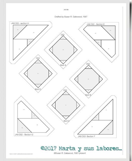 Marta y sus labores ...: Patrones de Dear Jane en Foundation Paper ...