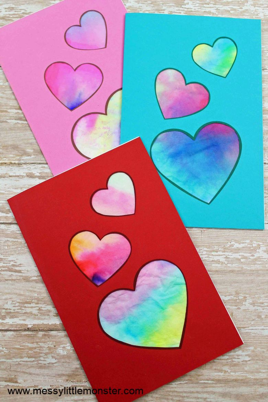 Homemade Valentine heart card