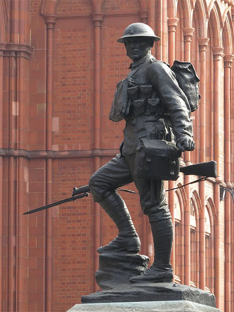 Royal London Fusiliers Monument by Albert Toft, High Holborn, City of London, London