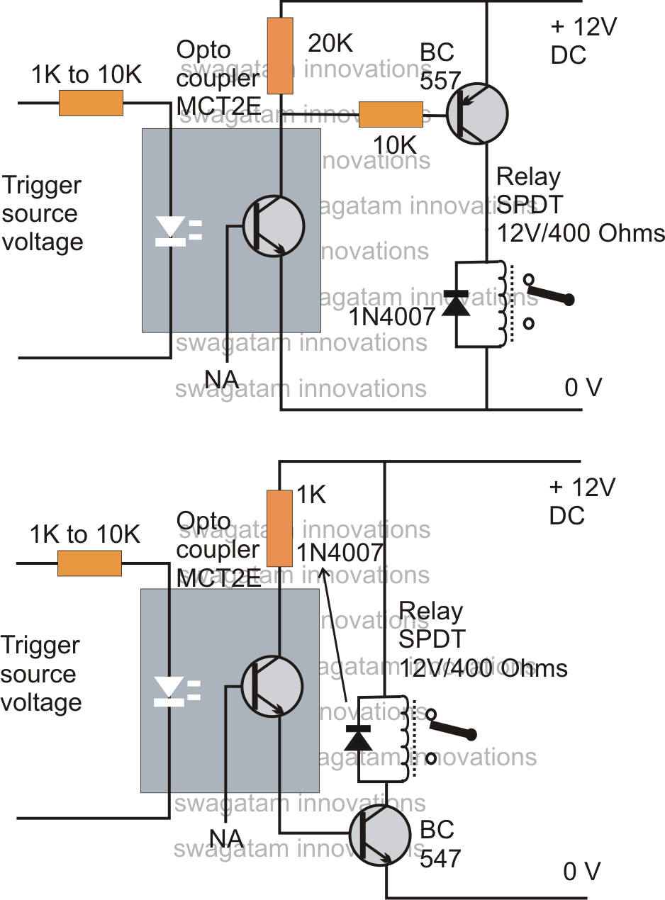 How to Drive a Relay through an OptoCoupler Circuit