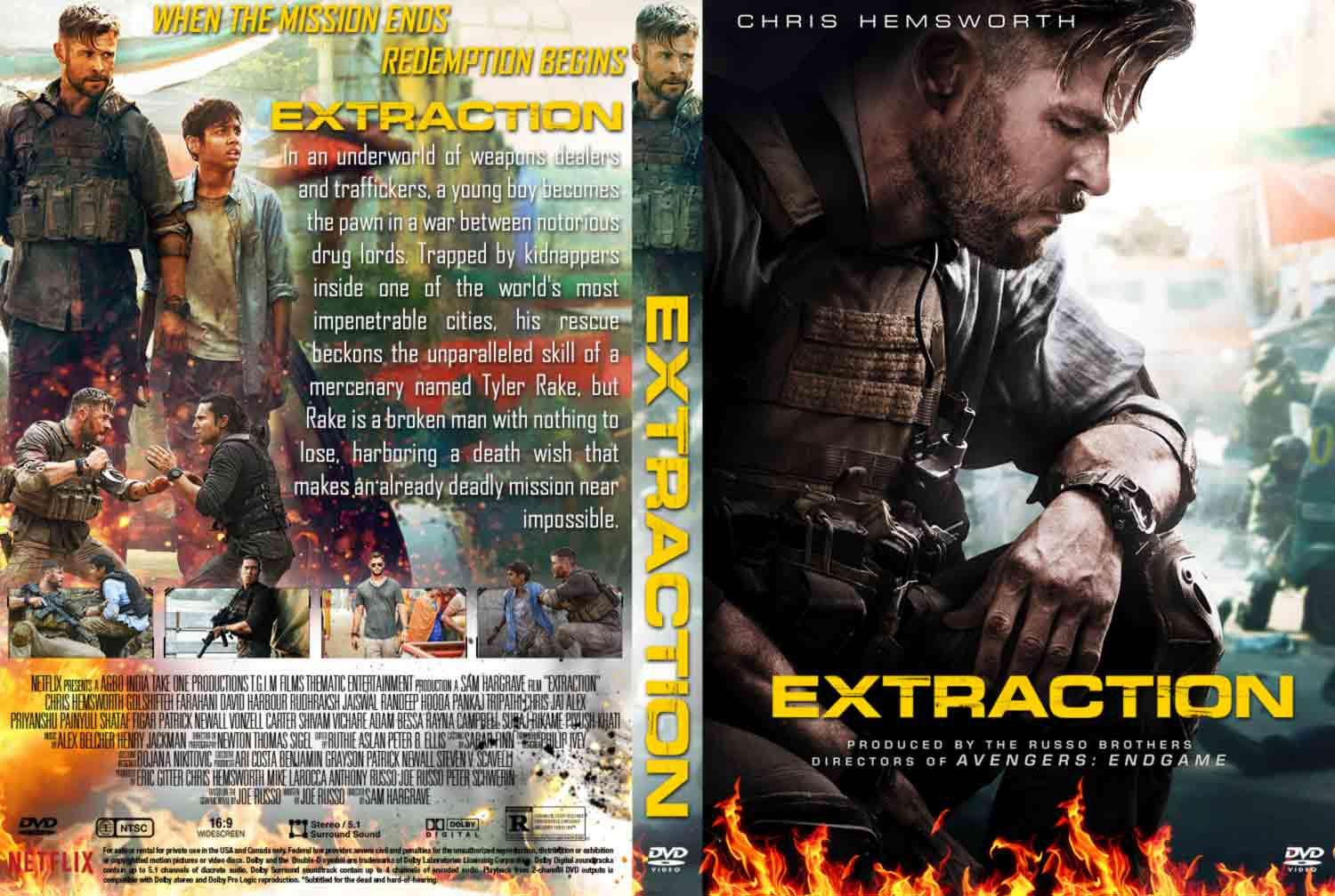 Extraction 2020 Dvd Cover Cover Addict Free Dvd Bluray Covers And Movie Posters