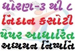 Std-3 To 8 Nidan Kasoti Paper Adharit Adhyayan Nishpattio