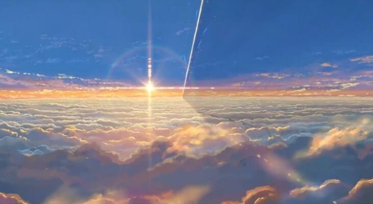 Comet opening scene in Kimi no Na wa
