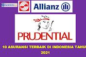 10 Asuransi Terbaik di Indonesia Tahun 2021