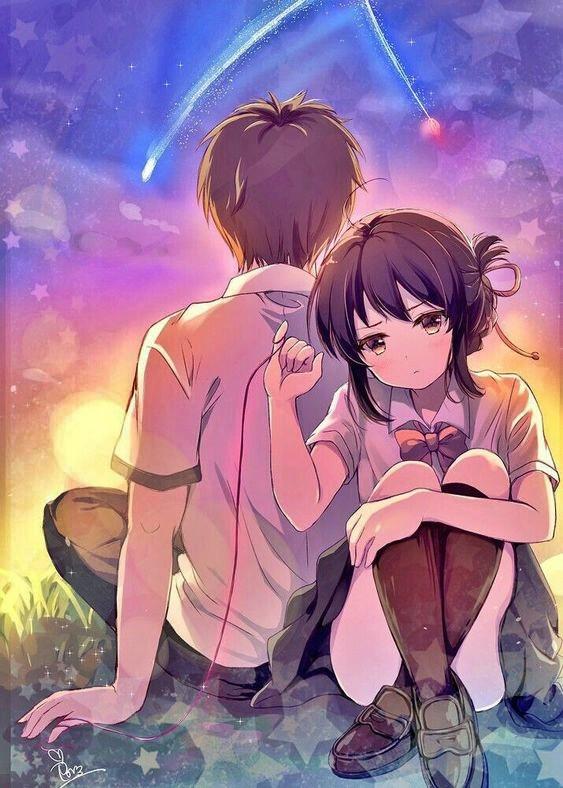 Wallpaper Pasangan Romantis Gambar Anime Couple Terpisah Keren Radea