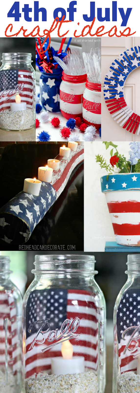 Farmhouse and Rustic 4th of July Crafts and Decorations