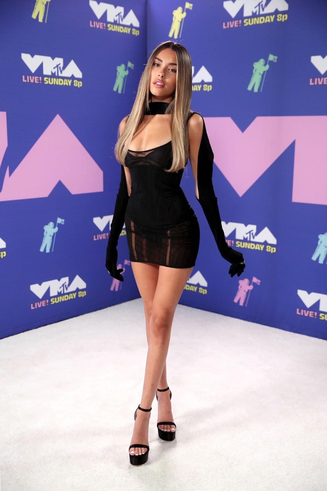 Madison Beer Dons Little Black Dress at MTV VMAs 2020