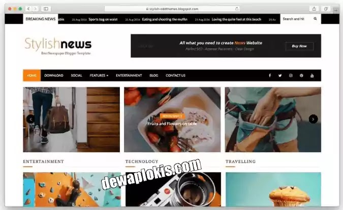 Template Blogger Gratis 2020