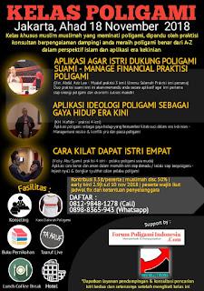 Kelas Poligami Jakarta November 2018