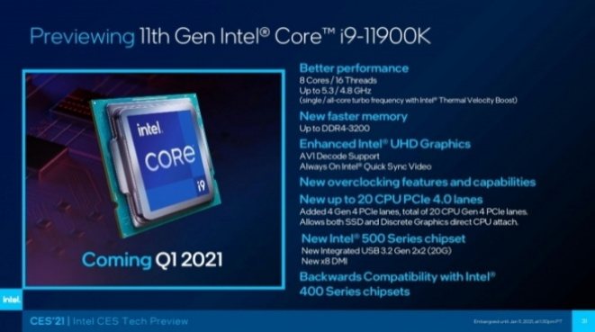 Intel Rocket Lake K-series