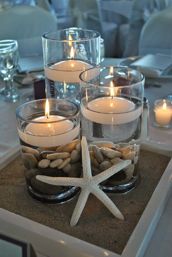 Champange Beach Wedding Decorations Centerpieces With Starfish Boutonniere